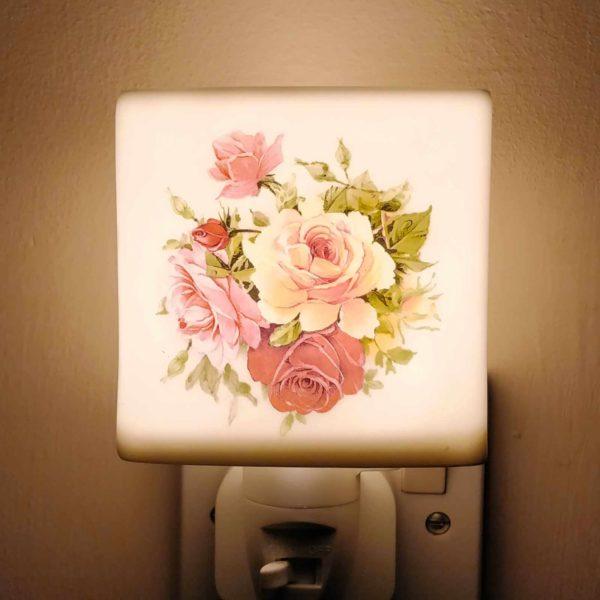 Pink Rose Night Light