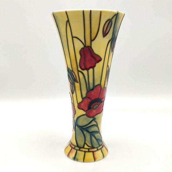 8inch Red Poppy Vase