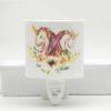 wall light with unicorn