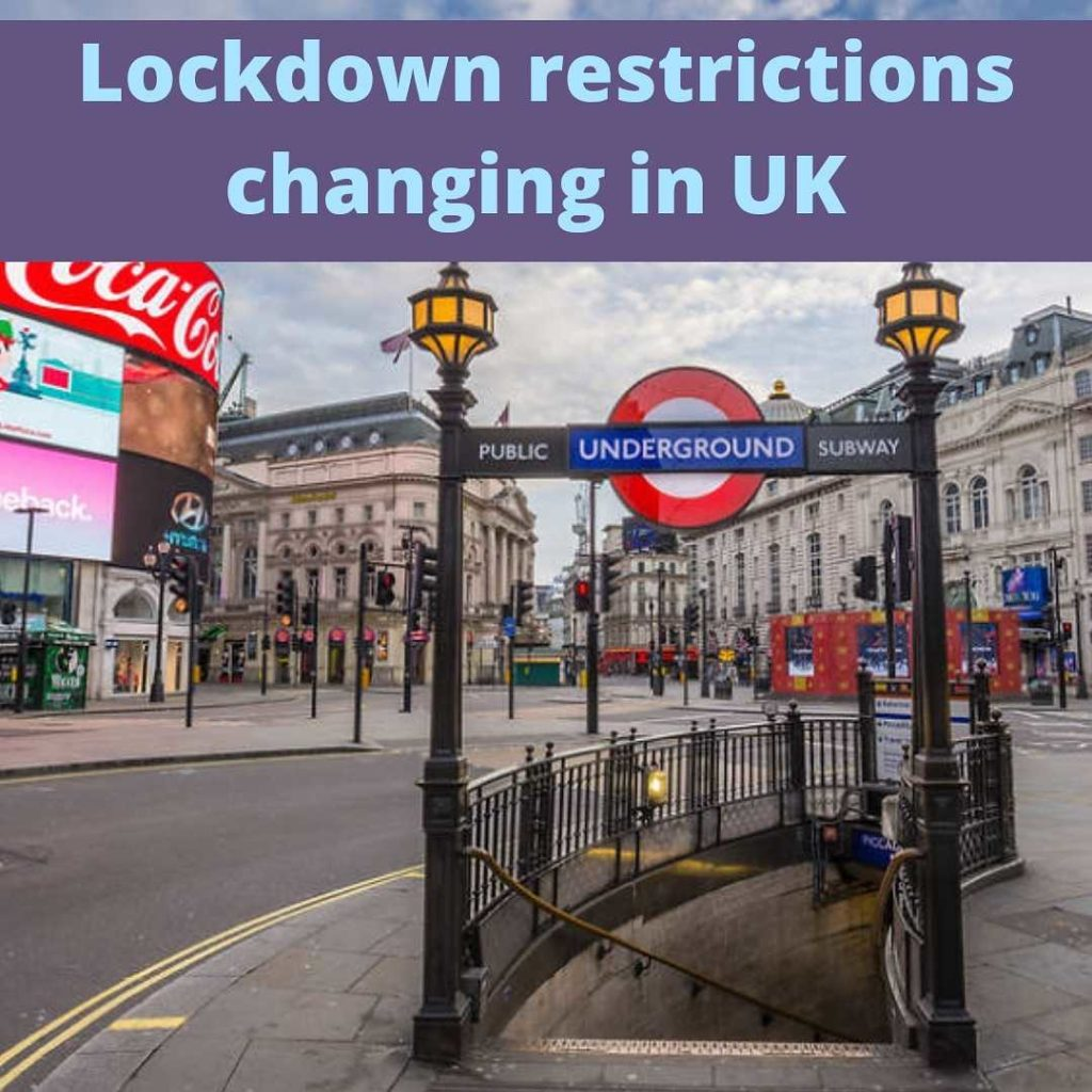 Lockdown restrictions changing in UK