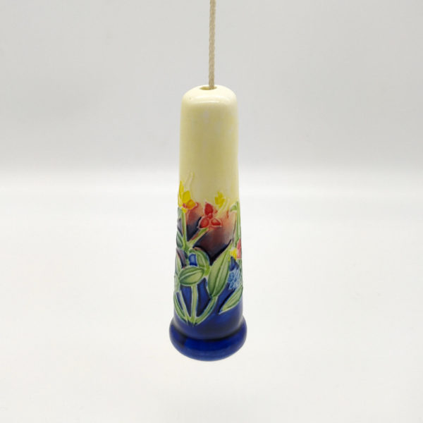 Ceramic Light Pulls UK Cord with Flowers