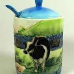 Old Tupton Ware Farmyard container with spoon