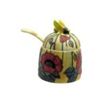 Photo of Old Tupton Ware honey pot with Poppy flowers