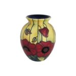 Photo of Old Tupton Ware large Vase with Poppy flowers
