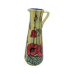 Photo of Old Tupton Ware tall jug with Poppy flowers